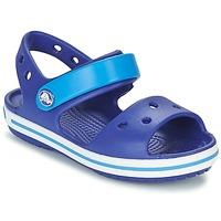 鞋子 男孩 凉鞋 crocs 卡骆驰 CROCBAND SANDAL KIDS 蓝色