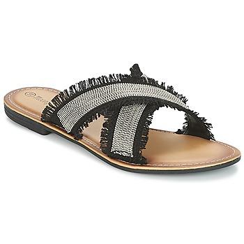 鞋子 女士 休閑涼拖/沙灘鞋 Moony Mood IRTA 黑色 / 銀色