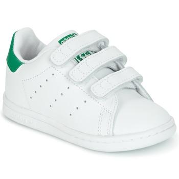 鞋子 兒童 球鞋基本款 Adidas Originals 阿迪達斯三葉草 STAN SMITH CF I 白色 / 綠色