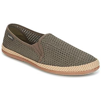 鞋子 男士 帆布便鞋 Bamba By Victoria COPETE ELASTICO REJILLA TRENZA 灰褐色