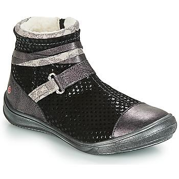 鞋子 女孩 短筒靴 GBB ROCHELLE 黑色 / 银灰色
