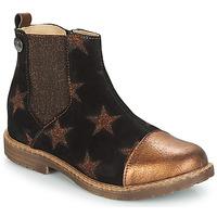 鞋子 女孩 短筒靴 GBB LEONTINA 黑色 / 铜色
