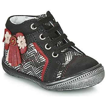 鞋子 女孩 短筒靴 Catimini RHUBARBE 黑色 / 银灰色
