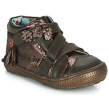 鞋子 女孩 短筒靴 Catimini ROQUETTE 棕色 / 金色