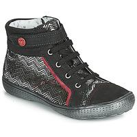 鞋子 女孩 高帮鞋 Catimini ROSIERE 黑色 / 银灰色