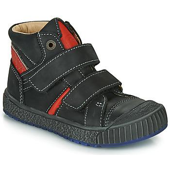 鞋子 男孩 高帮鞋 Catimini RAIFORT 黑色 / 红色