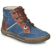 鞋子 男孩 短筒靴 Catimini RUMEX 蓝色 / 棕色