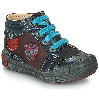 鞋子 男孩 高帮鞋 Catimini ROCOU 海蓝色 / 波尔多红