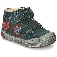 鞋子 男孩 高帮鞋 Catimini ROMARIN 蓝色 / 棕色