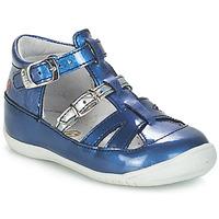 鞋子 女孩 凉鞋 GBB SARAH VVN BLEU-IMPRIME DPF/KEZIA