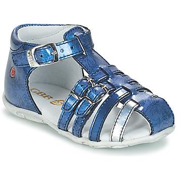 鞋子 女孩 凉鞋 GBB SAMIRA VVN BLEU-IMPRIME DPF/ZABOU