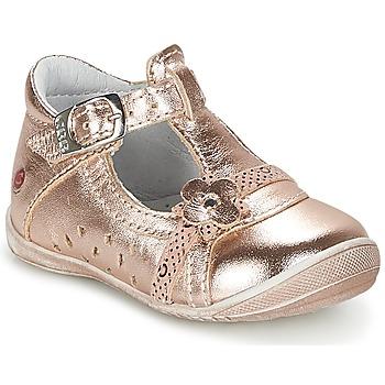 鞋子 女孩 平底鞋 GBB SIXTINE 玫瑰色 / 金色