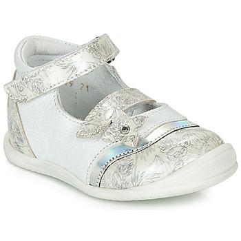 鞋子 女孩 平底鞋 GBB STACY 白色 / 银灰色