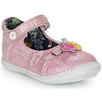 鞋子 女孩 平底鞋 Catimini SITELLE 玫瑰色 / 银色