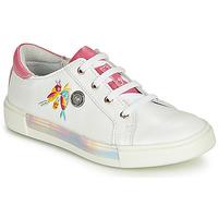 鞋子 女孩 高幫鞋 Catimini SYLPHE Vte / 白色-玫瑰色 / 白色