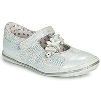鞋子 女孩 平底鞋 Catimini STROPHAIRE 银灰色
