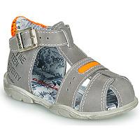 鞋子 男孩 凉鞋 Catimini SPHINX 灰色 / 橙色