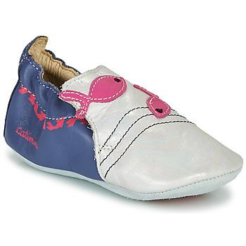 鞋子 女孩 拖鞋 Catimini SIRENE Vte / 海蓝色-白色