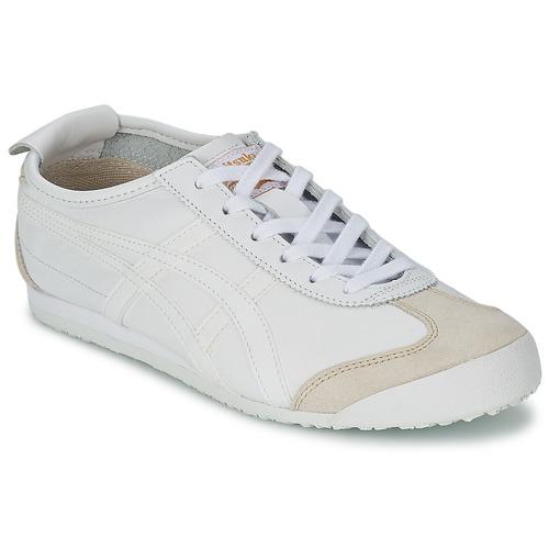 鞋子 球鞋基本款 Onitsuka Tiger 鬼冢虎 MEXICO 66 白色