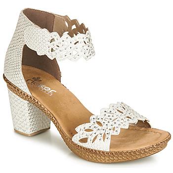 鞋子 女士 凉鞋 Rieker 瑞克尔 BELALIER 白色