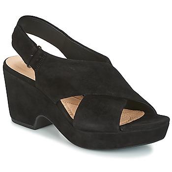 鞋子 女士 凉鞋 Clarks 其乐 MARITSA LARA 黑色