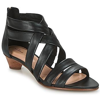 鞋子 女士 凉鞋 Clarks 其乐 MENA SILK 黑色
