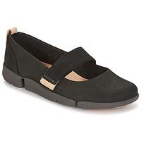 鞋子 女士 平底鞋 Clarks 其乐 TRI CARRIE 黑色