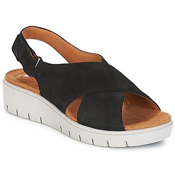 鞋子 女士 凉鞋 Clarks 其乐 UN KARELY HAIL 黑色