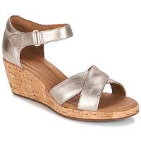 鞋子 女士 凉鞋 Clarks 其乐 UN PLAZA CROSS 金色