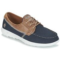 鞋子 女士 船鞋 Skechers 斯凯奇 GO WALK LITE 海蓝色