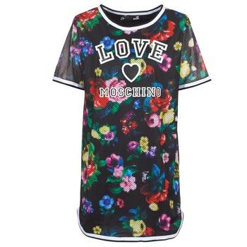 衣服 女士 短裙 Love Moschino W5A0302 黑色 / 多彩