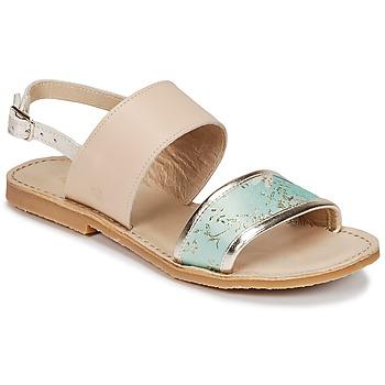 鞋子 女孩 凉鞋 Citrouille et Compagnie IOCHARLI 米色 / 蓝色