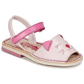 鞋子 女孩 凉鞋 Citrouille et Compagnie ILOUDFI 玫瑰色