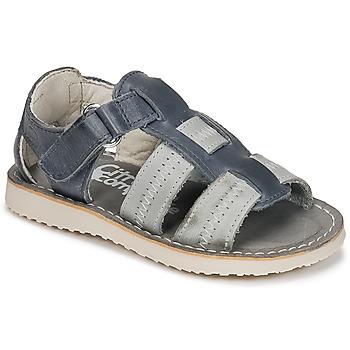 鞋子 男孩 凉鞋 Citrouille et Compagnie IOUTIKER 蓝色 / 灰色