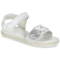 鞋子 女孩 凉鞋 Citrouille et Compagnie ILEVANDOK 白色 / 银色