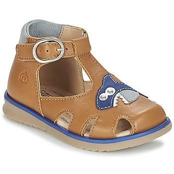 鞋子 男孩 凉鞋 Citrouille et Compagnie ISKILANDRO 棕色 / 蓝色