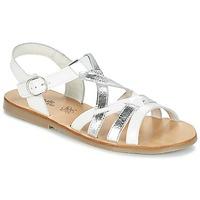 鞋子 女孩 凉鞋 Citrouille et Compagnie IMONGI 白色 / 银色