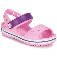 鞋子 女孩 凉鞋 crocs 卡骆驰 CROCBAND SANDAL 浅粉色 / 粉色 / 紫色