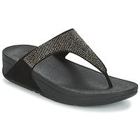 鞋子 女士 人字拖 FitFlop SLINKY ROKKIT 黑色