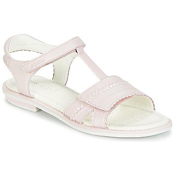 鞋子 女孩 凉鞋 Geox 健乐士 J S.GIGLIO A 玫瑰色