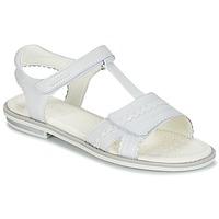 鞋子 女孩 凉鞋 Geox 健乐士 J S.GIGLIO A 白色