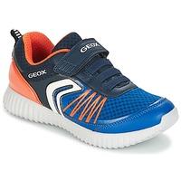 鞋子 男孩 球鞋基本款 Geox 健乐士 J WAVINESS B.C 海蓝色 / 橙色