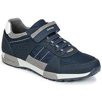 鞋子 男孩 球鞋基本款 Geox 健乐士 J ALFIER B. A 海蓝色 / 灰色
