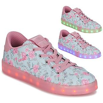鞋子 女孩 球鞋基本款 Geox 健乐士 J KOMMODOR G. B 蓝色 / 玫瑰色