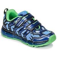 鞋子 男孩 球鞋基本款 Geox 健乐士 J ANDROID B. B 海蓝色 / 绿色