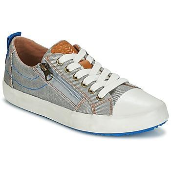 鞋子 男孩 球鞋基本款 Geox 健乐士 J ALONISSO B. D 灰色 / 蓝色