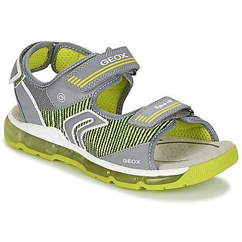 鞋子 男孩 运动凉鞋 Geox 健乐士 J S.ANDROID B.A 灰色 / 绿色