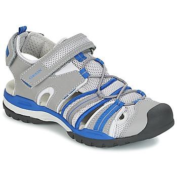 鞋子 男孩 运动凉鞋 Geox 健乐士 J BOREALIS B. C 灰色 / 蓝色