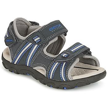 鞋子 男孩 运动凉鞋 Geox 健乐士 J S.STRADA A 海蓝色