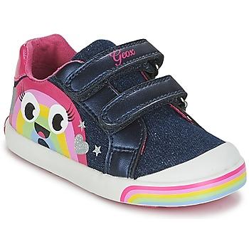 鞋子 女孩 球鞋基本款 Geox 健乐士 B KILWI G. C 牛仔 / 玫瑰色